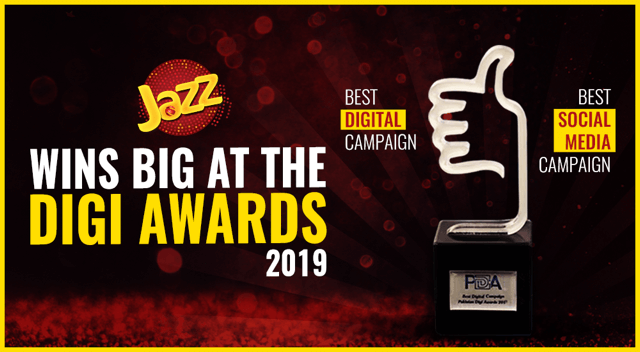Jazz Wins Big at Pakistan Digi Awards '19