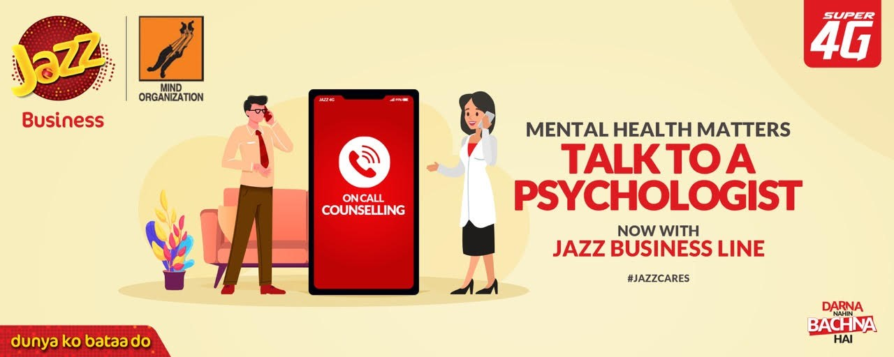 Jazz Business and Mind Organization to launch a COVID-19  Mental Wellbeing helpline, 'Zehni Sehat Helpline'