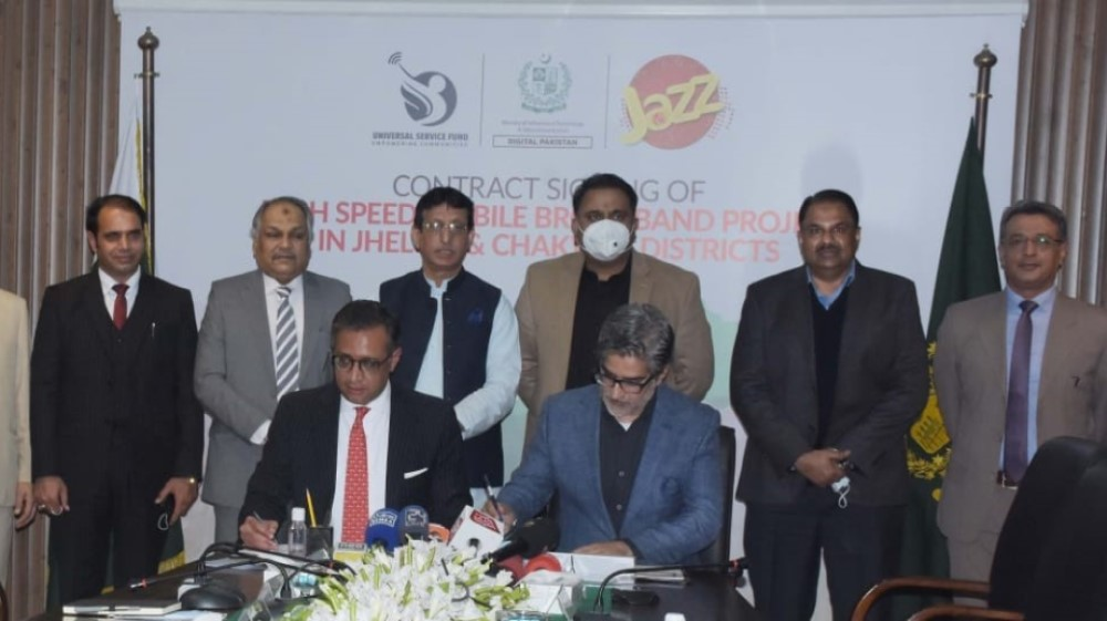 USF awards contract worth PKR 254 Million to Jazz for providing Broadband services in Jhelum and Chakwal Districts