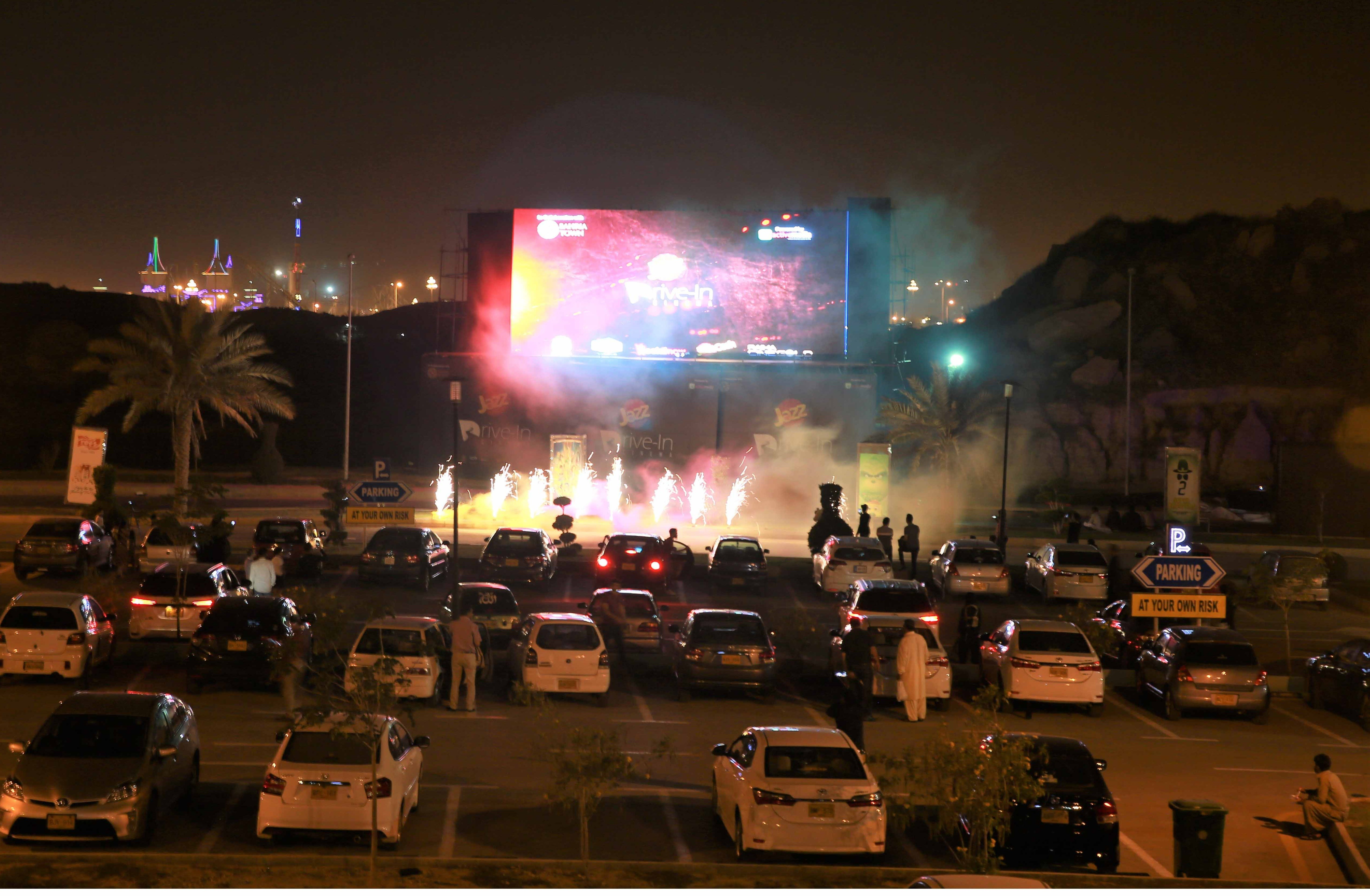 Jazz Drive-In Cinema starts screening in Karachi