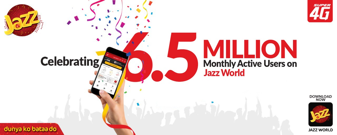 Jazz World crosses 6.5 Million Monthly Active Users!