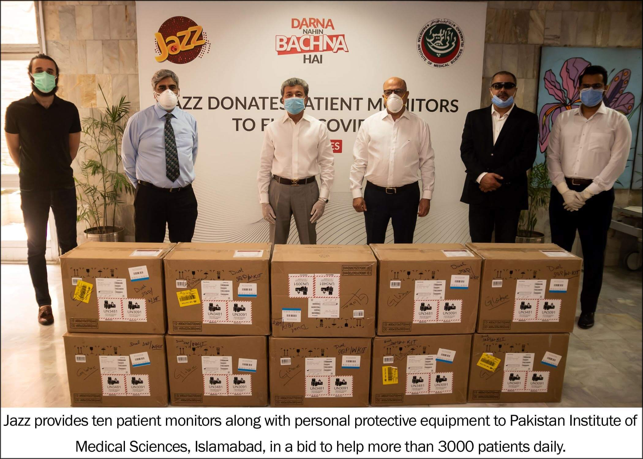 Jazz donates life-saving equipment in the fight against COVID-19