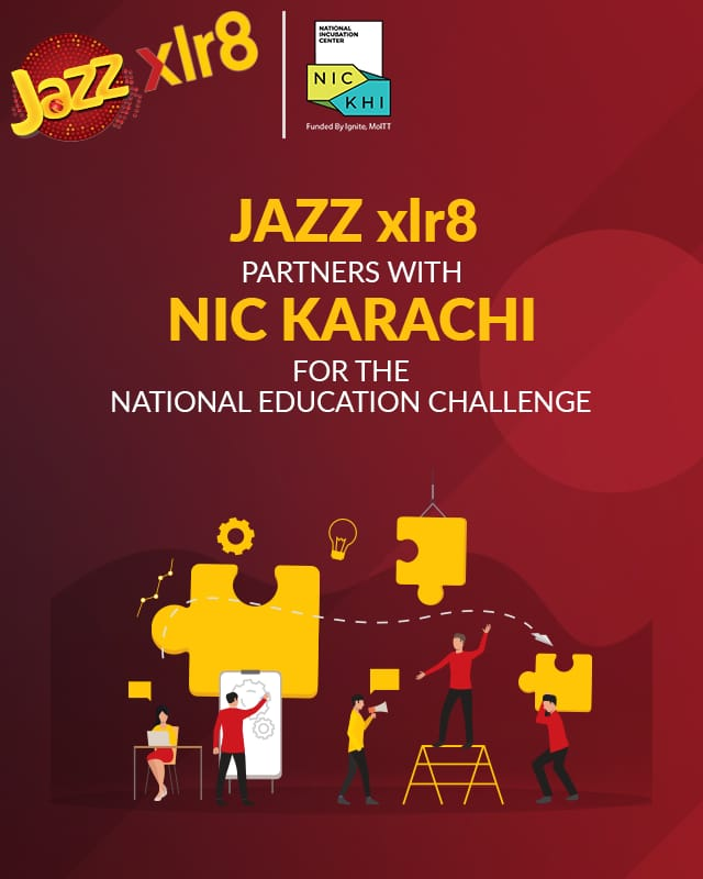 Jazz xlr8 partners with NIC Karachi for the national education challenge!