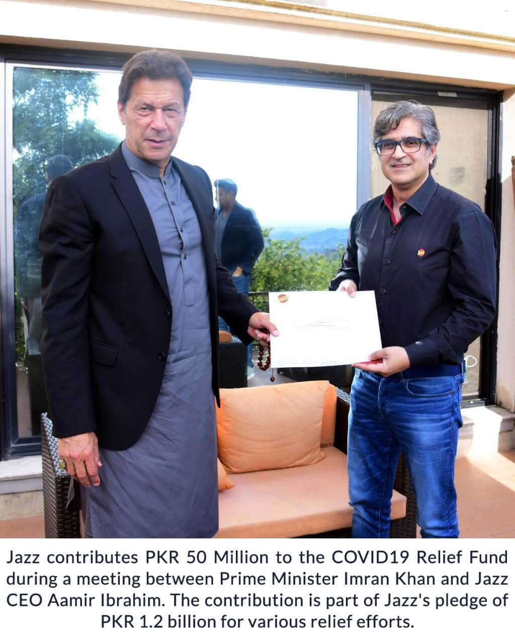 Jazz Contributes PKR 50 Million to PM's COVID-19 Relief Fund