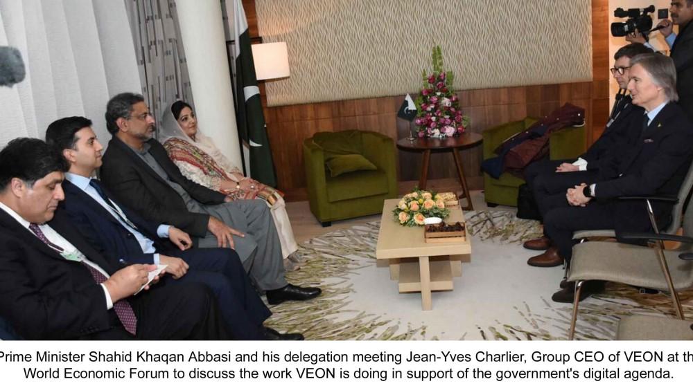 PM Shahid Khaqan Abbasi meets with CEO VEON