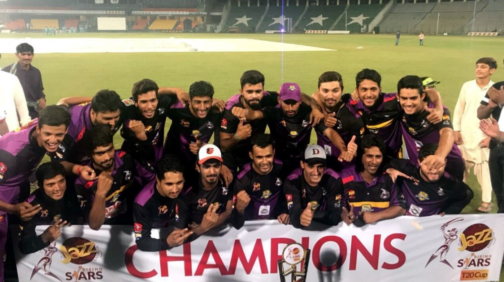 Team Sargodha Victorious in the Jazz Rising Stars T20 Cup 2017
