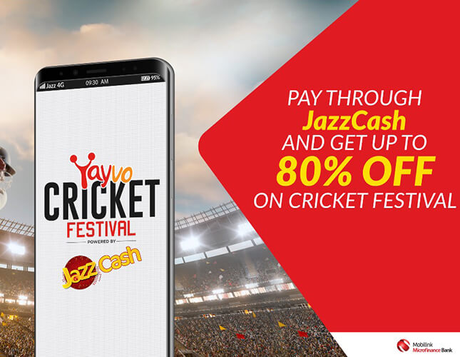 JazzCash Becomes Payment Partner for Yayvo Cricket Festival 2019