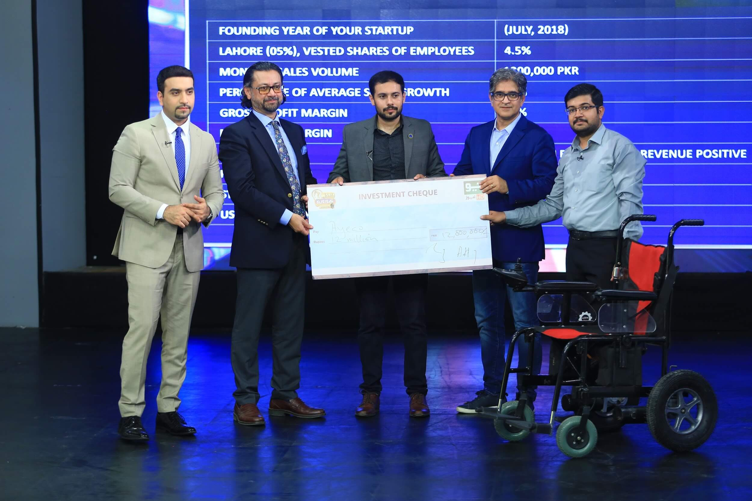 Startup AyeCo raises PKR 12m to empower the differently abled with high-tech wheelchairs